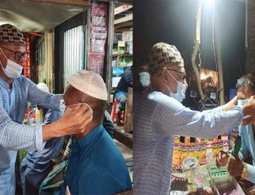 রাঙ্গাবালীতে যুবলীগ নেতার উদ্যোগে মাস্ক বিতরণ